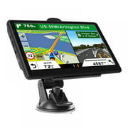 GPS Navigation for Car,7 inch HD Touch Screen 8GB 256M Real Voice Spoken Turn-by-Turn Direction Reminding Navigation System Speeding Warning,for Cars, Vehicle GPS Satellite Navigator Update
