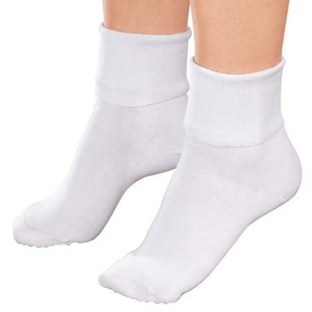 Buster Brown Women's Low Cut Ankle Socks, 100% Cotton, Elastic Free, White, Medium (3 Pair)
