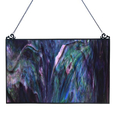 River of Goods Galaxy Swirl Stained Glass Window Panel