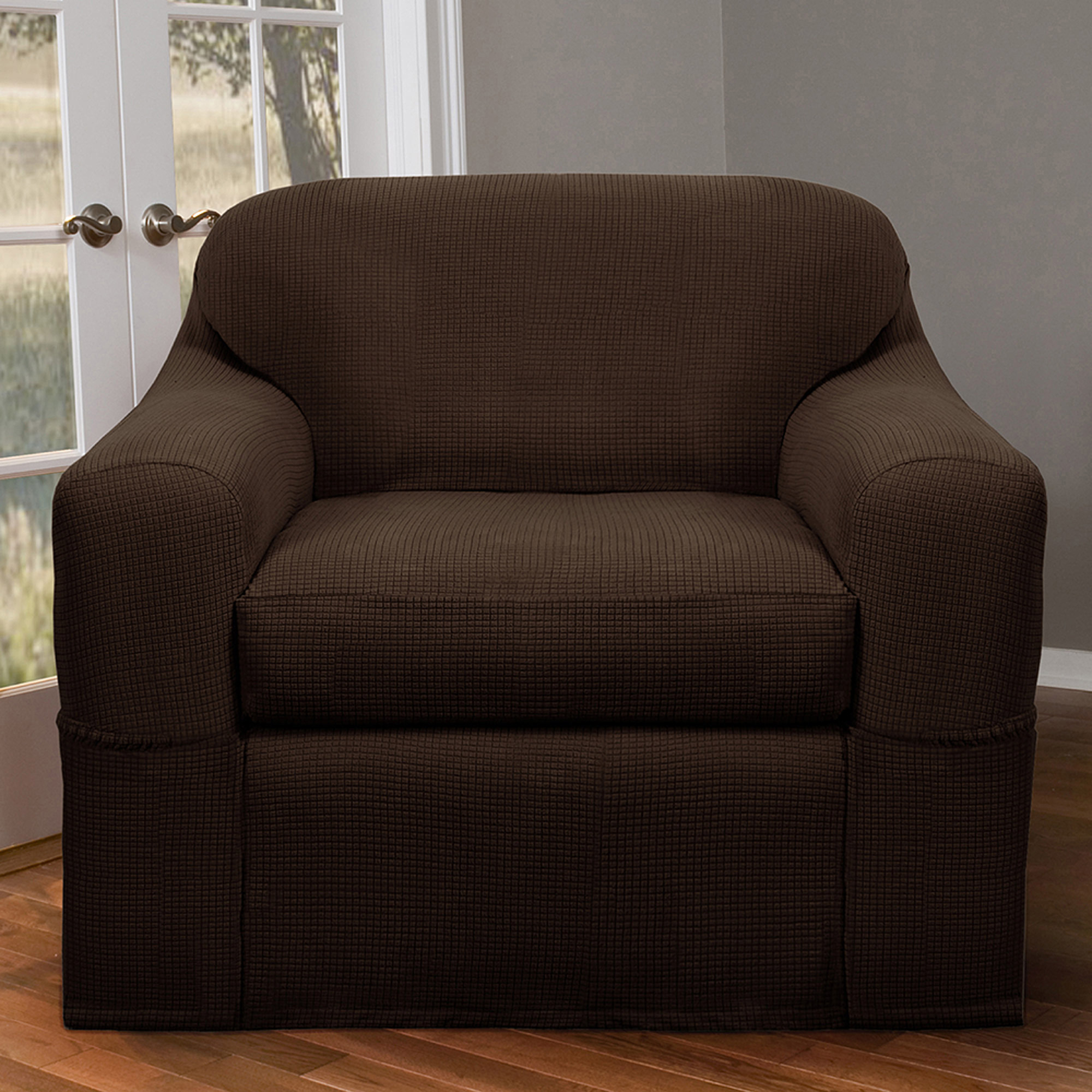 Maytex Reeves Stretch 2 Piece Chair Furniture Cover Slipcover
