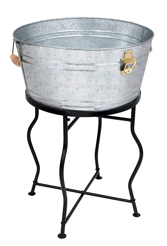 Galvanized beverage tub w/ stand - Walmart.com - Walmart.com