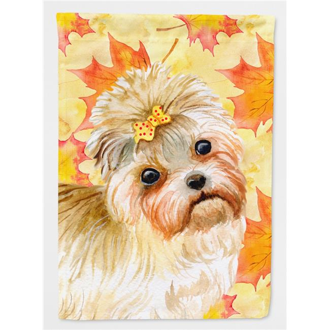 Carolines Treasures BB9929CHF Morkie Fall Flag - Canvas House Size - image 1 de 1