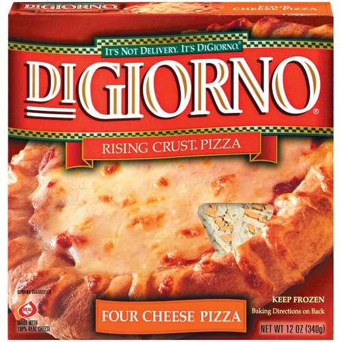 Digiorno Frozen Pizza digiorno: rising crust four cheese pizza, 12 oz - walmart