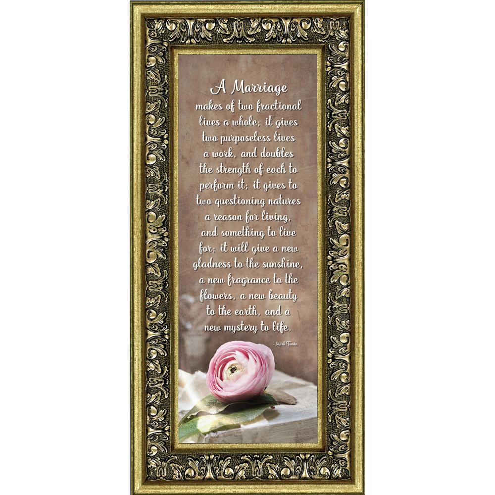 Walmart Wedding Gift Ideas: A Marriage, Mark Twain Poem Gift, Picture Frame Wedding