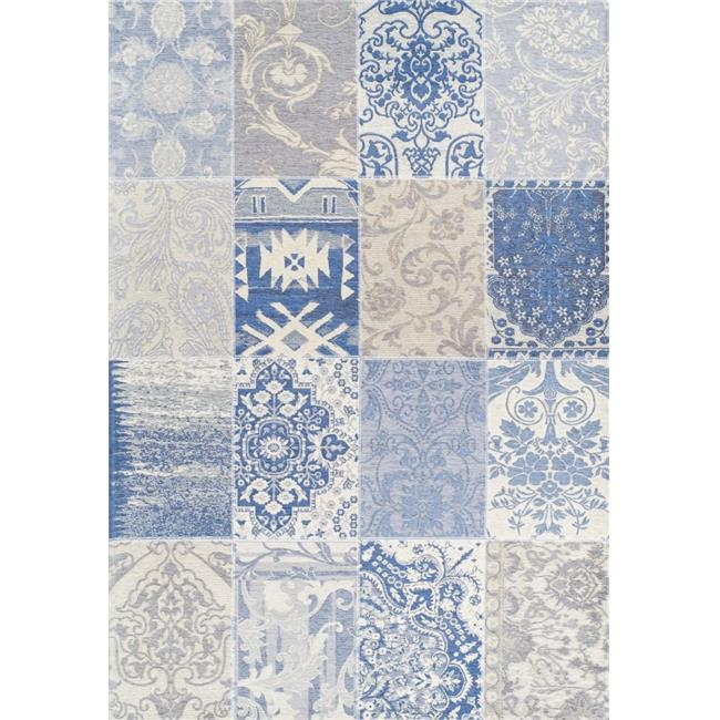 Giz Home RGN-1B-7 5 ft. x 7.3 ft. Patchwork RectangularArea Rug - Multicolor