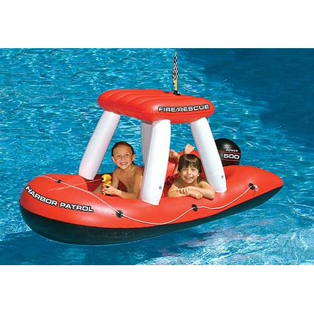 Fire Boat Squirter Inflatable Swimming Pool Float