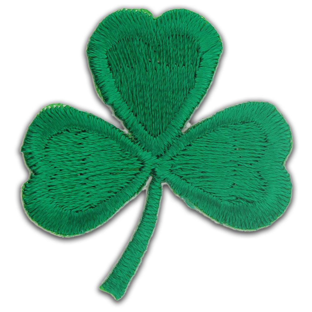 Shamrock Clover Embroidered Applique Sticker