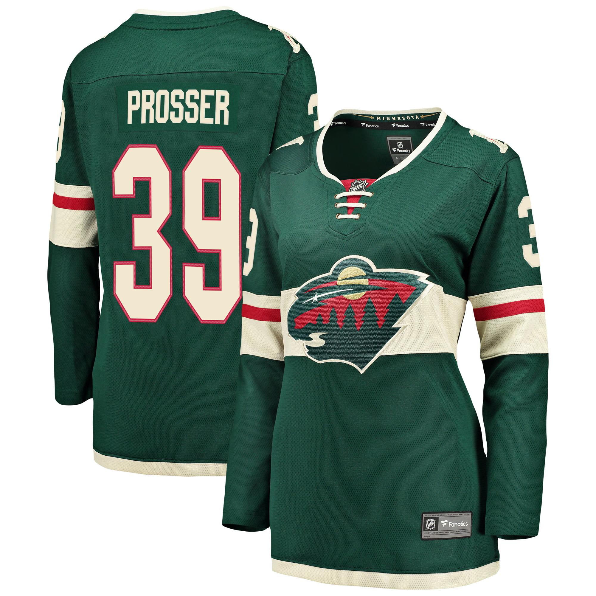 Nate Prosser Minnesota Wild Fanatics Branded Women's Breakaway Player Jersey - Green