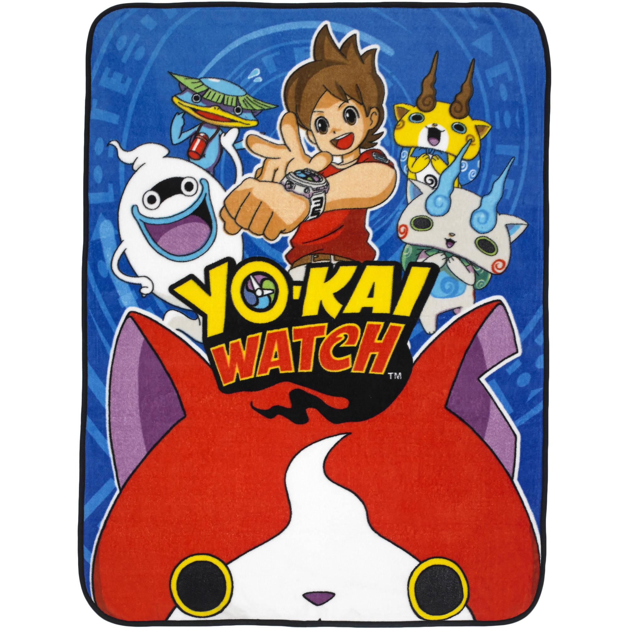 Yokai Watch u0022Play Coinsu0022 46u0022 x 60u0022 Plush Throw, 1 Each