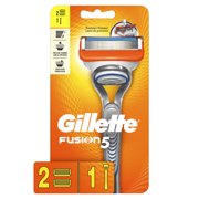 Gillette Fusion5 Mens Razor Handle and 2 Blade Refills