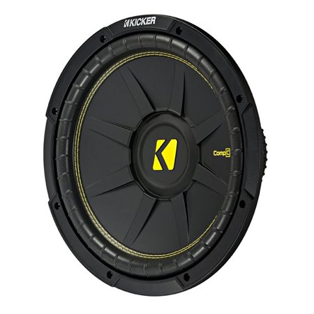 Kicker 12 Inch CompC 1200 Watt 4 Ohm Single Voice Coil SVC Subwoofer | 44CWCS124 ()