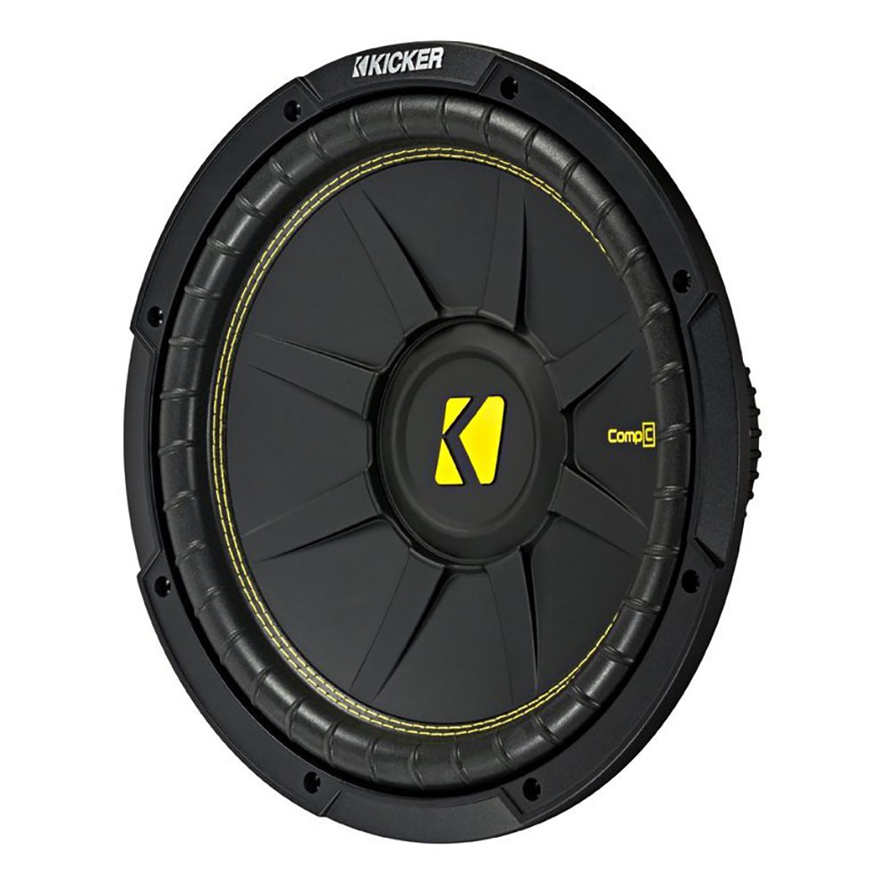 Kicker 10 Inch CompC 500 Watt 4 Ohm Single Voice Coil SVC Subwoofer | 44CWCS104