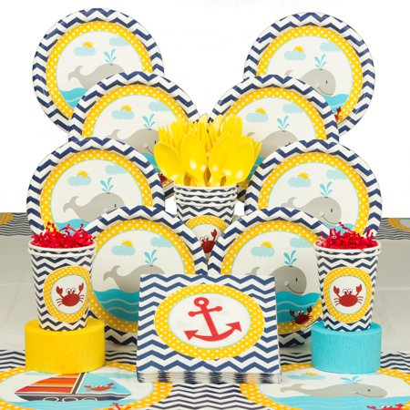 Ahoy Matey Deluxe Tableware Kit (Serves 8) - Baby Shower Party Supplies