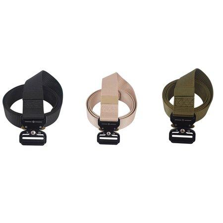 OUTAD Men's Cobra Tactical Belt Nylon Belt Security Multi-Function Belt Armed Belt black - image 3 of 8