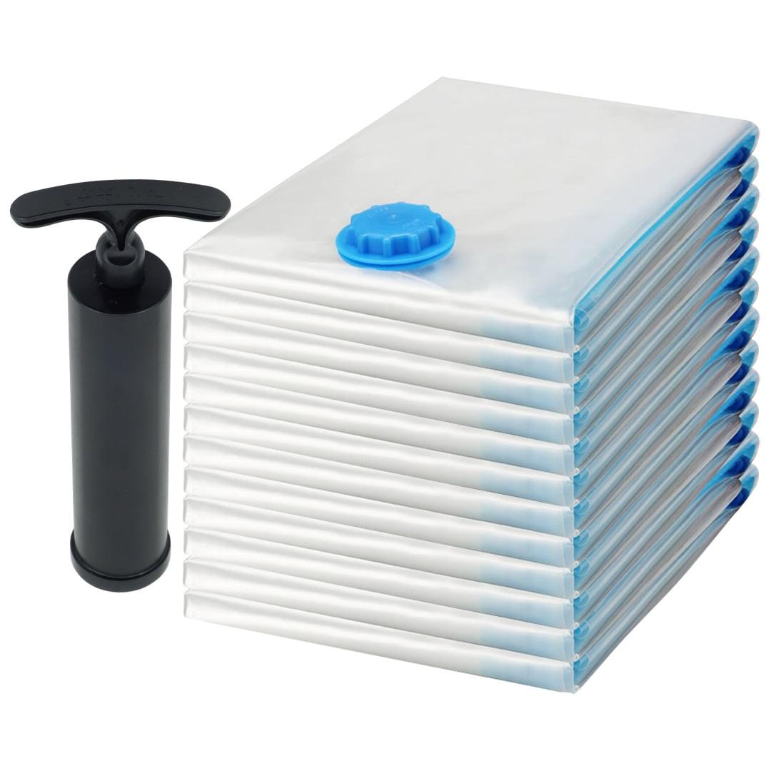 12 Pack Medium Felji Space Saver Bags Vacuum Seal Storage Bag Organizer 22x31 inches, 56x80 cm + Free Pump
