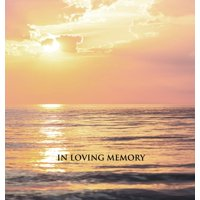 """""""In Loving Memory"""" Funeral Guest Book, Memorial Guest Book, Condolence Book, Remembrance Book for Funerals or Wake, Memorial Service Guest Book : HARDCOVER. A lasting keepsake for the family."""
