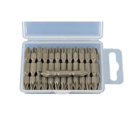 TEMO 25 pc PZ2 Pozi Drive Impact Ready Double Ended 2 Inch (50 mm) Screwdriver Insert Bits