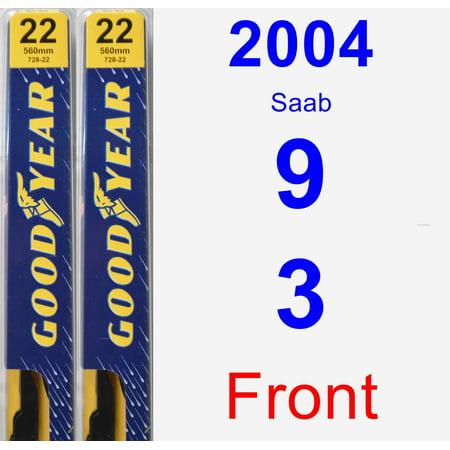 2004 Saab 9-3 Wiper Blade Set/Kit (Front) (2 Blades) - Premium (Saab Headlight Wiper)