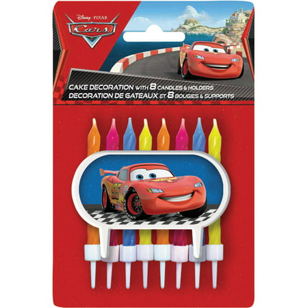 Disney S Cars Party Cake Candles And Decoration Set