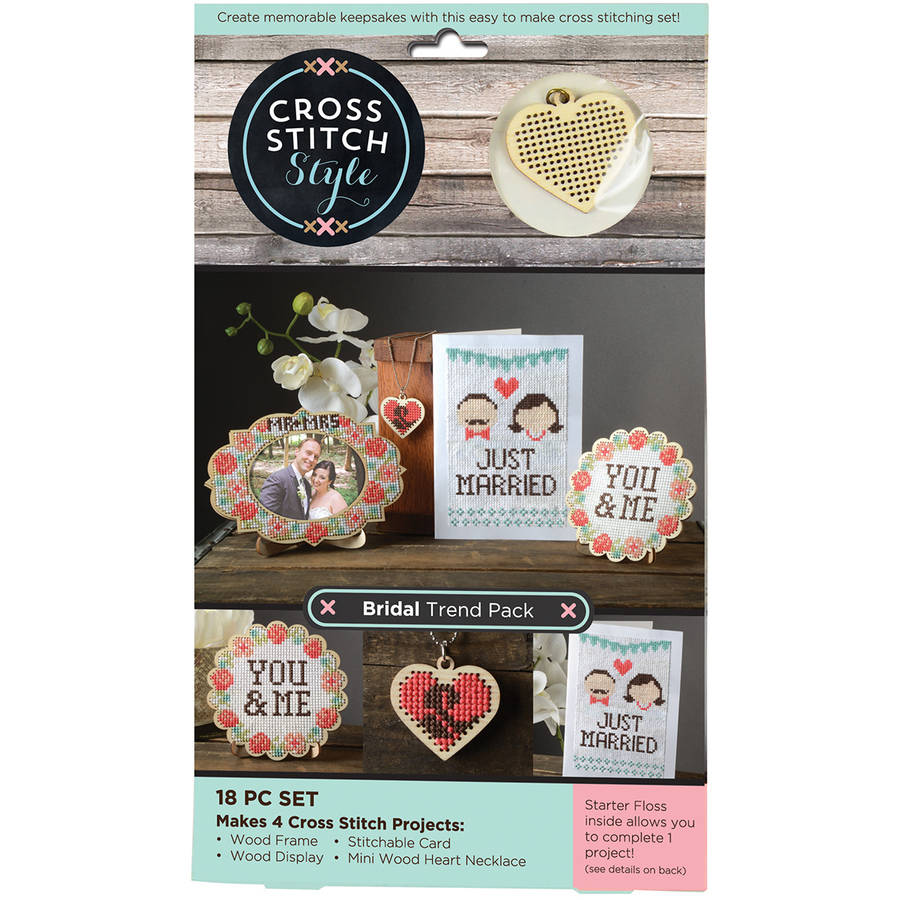 Wood Bridal Trend Pack Punched For Cross Stitch Kit