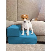 Breathable Mesh Foldable Pet Stair Detachable Pet Bed Ramp 2 Level Ladder