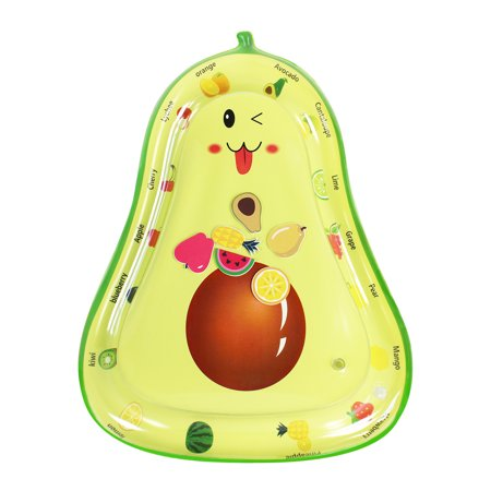 Inflatable Baby Water Mat, PVC Water Mat Fun Activity Play Center for Infants & Kids &Toddlers, Early Education Inflatable Patted Water Play Pad Cushion, Avocado Shape - image 8 of 9