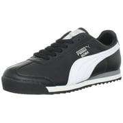 PUMA Men's Roma Basic Fashion Sneaker, Black/White/Silver - 8.5 D(M) US