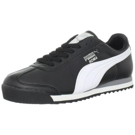 Puma 353572-11:Classic ROMA Basic BLACK/White Casual Comfort Sneaker (9.5 D(M) US) (Mens Slip On Shoes Puma)