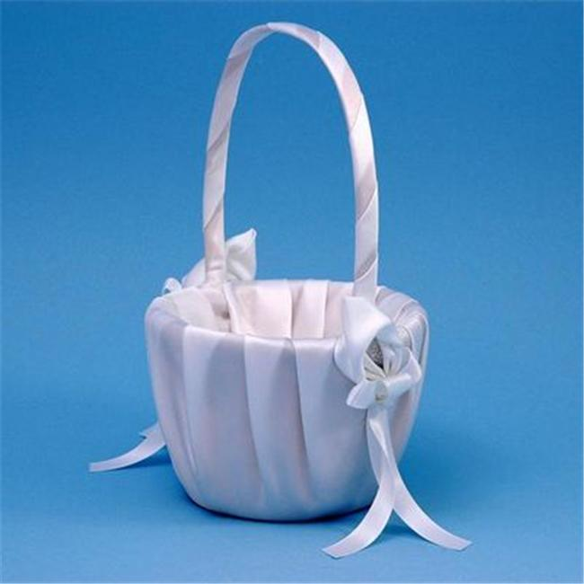 Beverly Clark A01075FB/WHT Calla Lily Flower Girl Basket - White