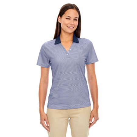(Ash City - Extreme Ladies' Eperformance™ Launch Snag Protection Striped Polo)