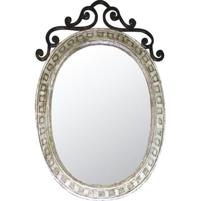 Quiescence AC-MIR-ORN-DIS Ornate Mirror- distressed iron