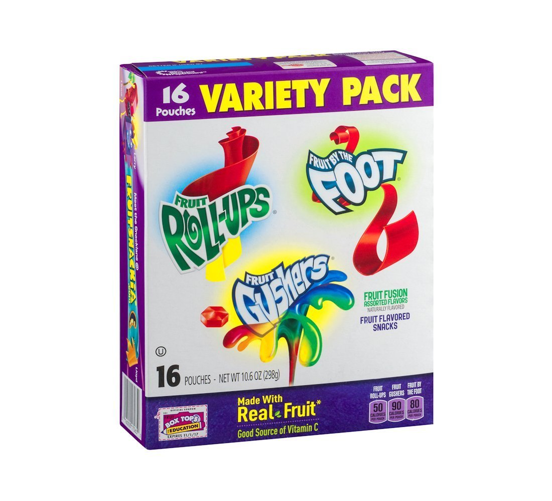 Betty Crocker Fruit flavored snacks variety pack, 10.6 OZ (Pack of 6)