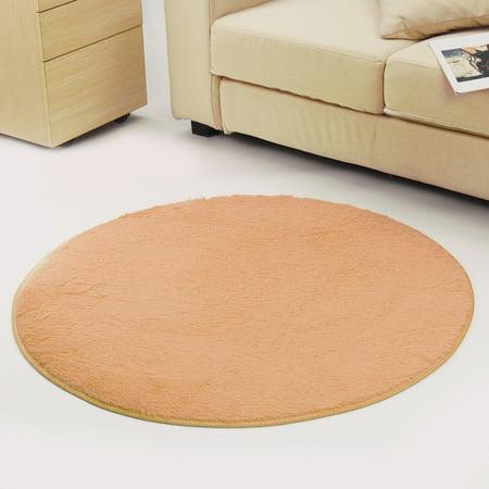 Soft Fluffy Floor Round Rug Anti Skid