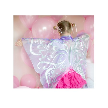 Girls Lilac Organza Glitter Wings - Creative Halloween Customs