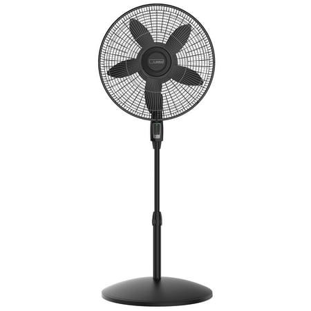 """Lasko 18"""" Remote Control Large Room Pedestal 4-Speed Fan, Model S18605"""