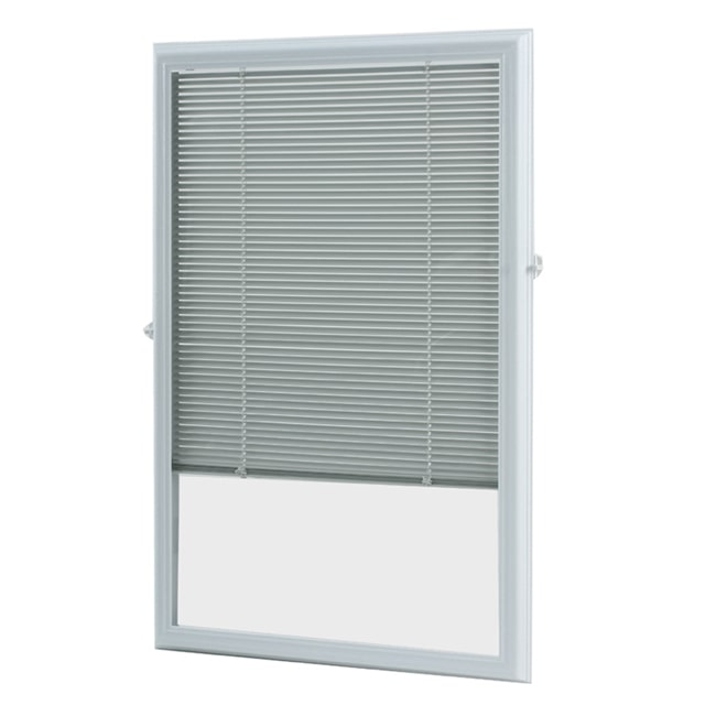 ODL, Inc. White Enclosed Door Blinds (20 x 36)