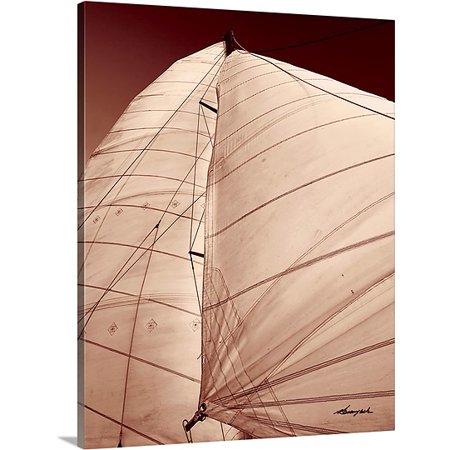 Great BIG Canvas Alan Hausenflock Premium Thick-Wrap Canvas entitled Windward Sail (Windward Mall)