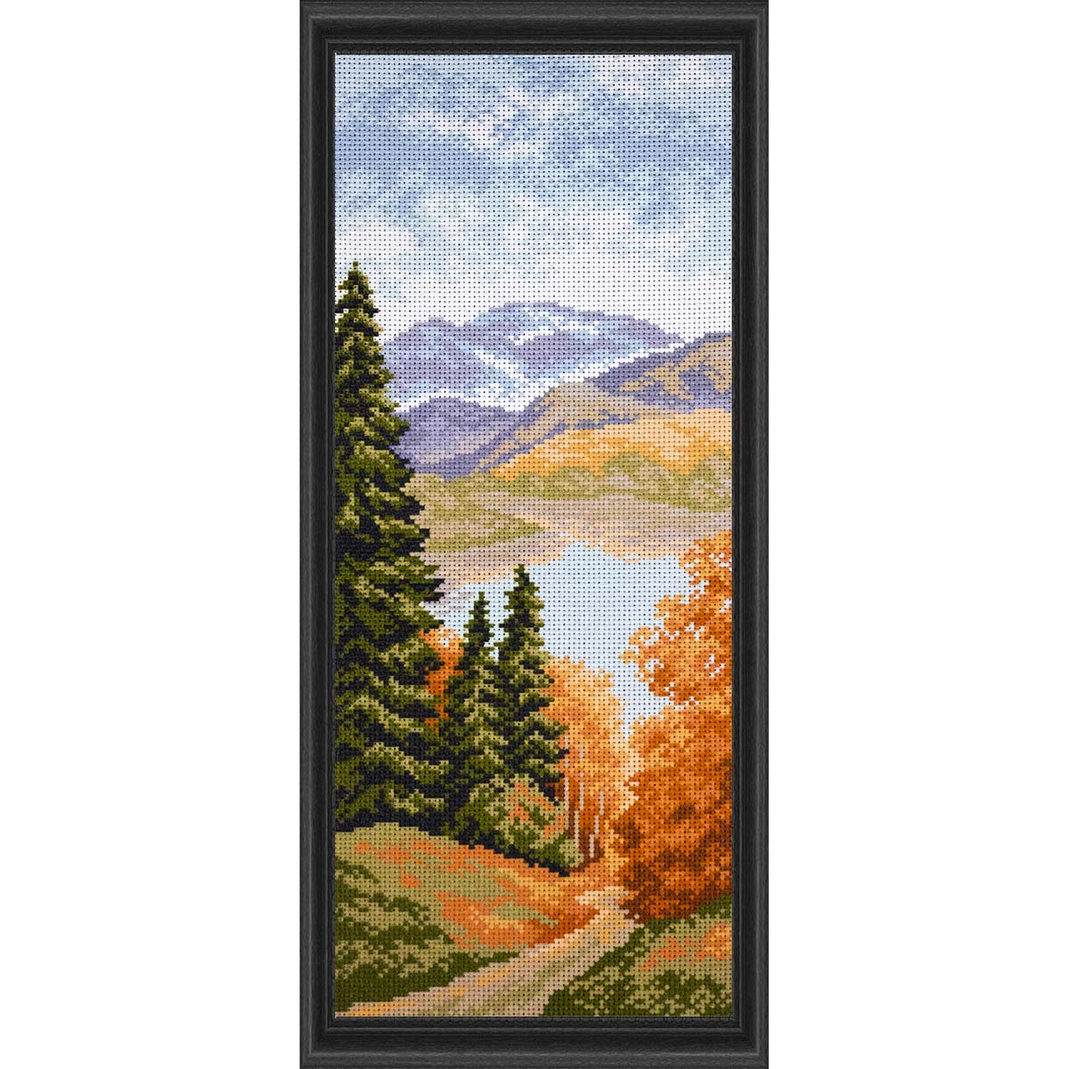 Collection D'Art Mountain Lake Stamped Cross-Stitch Kit