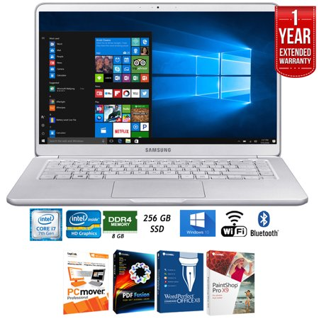 Samsung Np900x5n L01us 15   Notebook 9 7Th Gen Intel I7  8Gb Ram Laptop    Elite Suite 17 Standard Software Bundle  Corel Wordperfect  Pc Mover  Pdf Fusion  X9    1 Year Extended Warranty