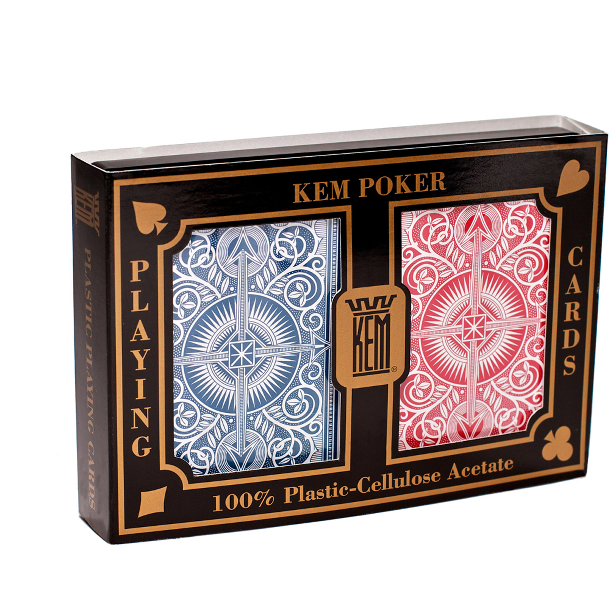 KEM Arrow Red and Blue Playing Cards, Wide by US Playing Card Company