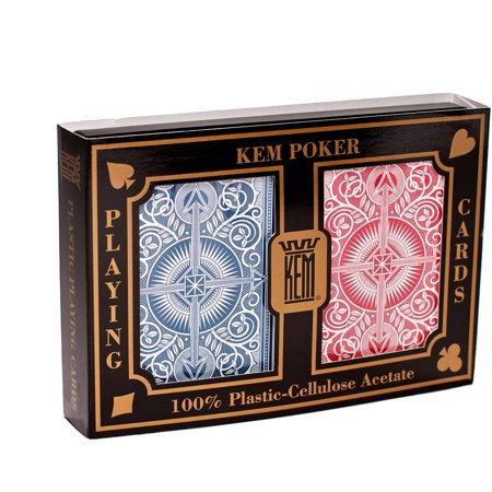 KEM Arrow Red and Blue Playing Cards, Wide](Casino Playing Cards)