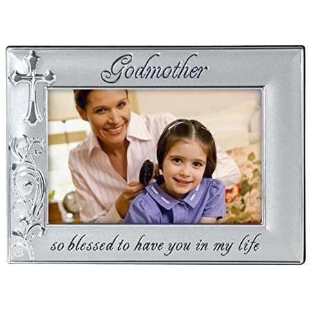 malden international designs godmother with cross picture frame, 4x6,