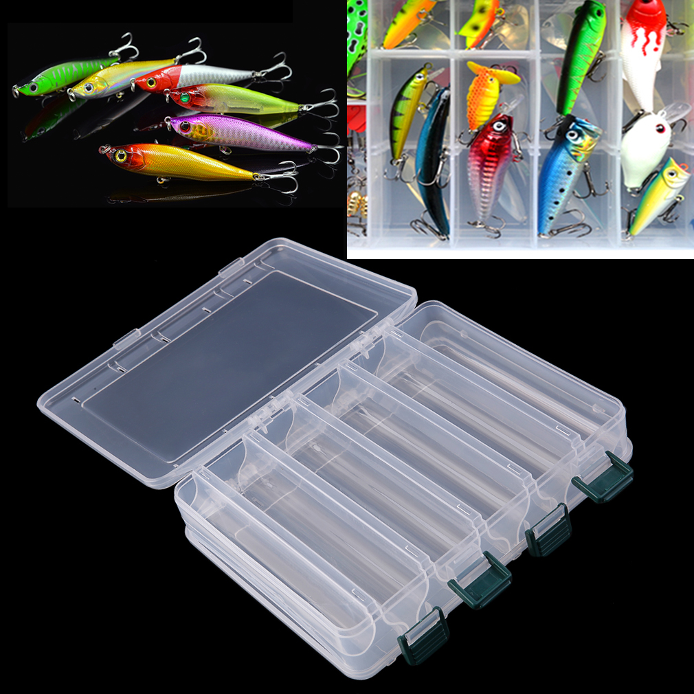 10 Compartments Double Layers Transparent Eco-Friendly Fishing Lure Bait Hooks Tackle Waterproof Storage Box Case... by