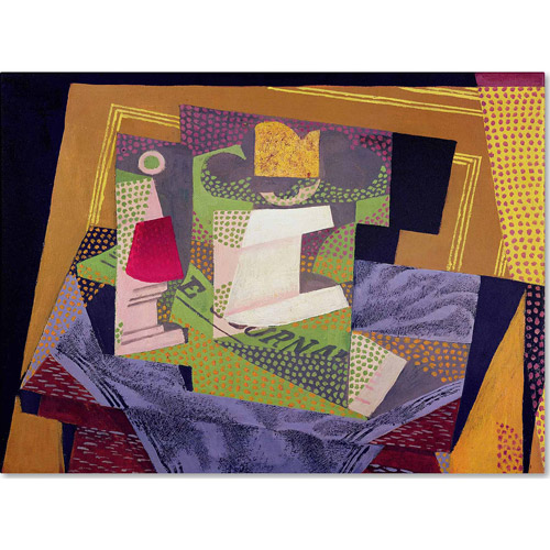 "Trademark Fine Art ""Composition on a Table, 1916"" Canvas Art by Juan Gris"