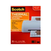 """Scotch Thermal Laminating Pouches, 100 Count, 8.5"""" x 11"""", 5 mil"""