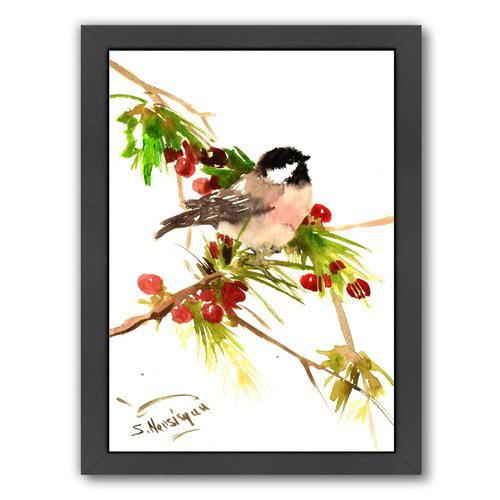 Americanflat Chickadee 1 by Suren Nersisyan Framed Painting Print