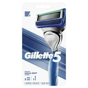 Gillette5 Razor Handle and 2 Blade Refill Cartridges for Men