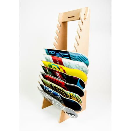 Skateboard Longboard Snowboard Floor Display Rack (The (Arbor Longboard Snowboard)