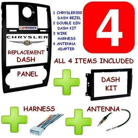 2005-2007 chrysler 300 car stereo radio double din dash kit + harness +  antenna - walmart com