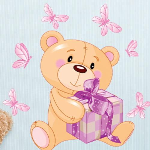 Style and Apply Teddy Bear II Wall Decal